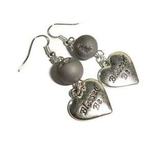 Blessed be earrings Wiccan earrings agate